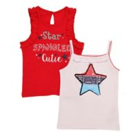 Baby Starters® Size 24M 2-Pack Star Spangled Bodysuits in Red/White/Blue