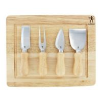 J.A. Henckels International 5-Piece Cheese Knife Set in Silver/Wood