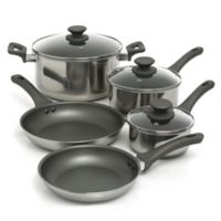 Oster® Rivendell Stainless Steel 8-Piece Cookware Set in Grey