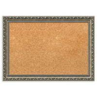 Amanti Art Small Cork Board with Parisian Silver Frame