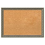 Amanti Art Medium Cork Board with Parisian Silver Frame