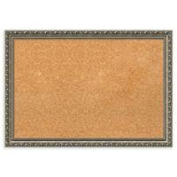 Amanti Art Medium Cork Board with Parisian Silver Frame