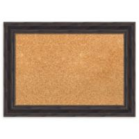 Amanti Art Small Framed Cork Board in Rustic Pine