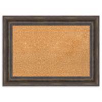 Amanti Art Medium Framed Cork Board in Rustic Pine