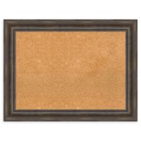 Amanti Art Large Framed Cork Board in Rustic Pine