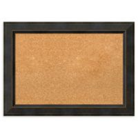 Amanti Art Medium Cork Board with Angled Frame in Signore Bronze