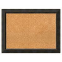 Amanti Art Large Cork Board with Angled Frame in Signore Bronze