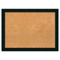 Amanti Art Large Framed Cork Board in Corvino Black