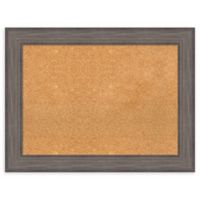 Amanti Art Large Cork Board with Country Barnwood Frame in Rustic Grey