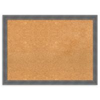 Amanti Art Large Cork Board with Dixie Grey Rustic Frame