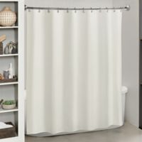 Titan Essence Heavyweight Fabric Shower Curtain Liner in White
