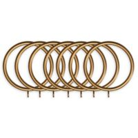 Classic Home Metal Window Curtain Rings in Gold (Set of 7)