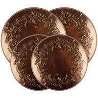 Range Kleen® Ivy Embossed Burner Covers in Copper (Set of 4)