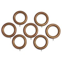 Classic Home Wood Window Curtain Rings in Gold (Set of 7)
