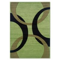 Linon Home Corfu 1'10 x 2'10 Accent Rug In Lime/Black