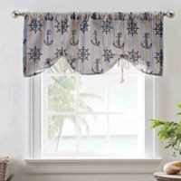 Ahoy 50-Inch Tie-Up Tailored Rod Pocket Window Valance in Blue
