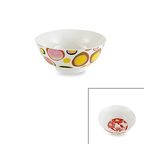 Prima Donna Designs Inside Out Dots 8-Inch Porcelain Bowl