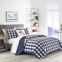 Eddie Bauer® Lake House Plaid Reversible Twin Quilt Set in Blue