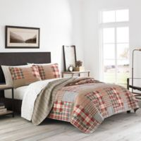 Eddie Bauer® Hawthorne Patchwork Reversible King Quilt Set in Brown