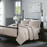 Madison Park Signature Serene Full/Queen Coverlet Set in Blush