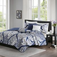 Madison Park Vienna King/California King Coverlet Set in Indigo