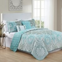VCNY Home Tory Reversible Full/Queen Quilt Set in Blue