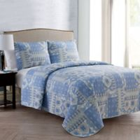 VCNY Home Adisa Reversible King Quilt Set in Blue