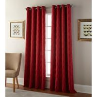 Kings Gate 95-Inch Grommet Window Curtain Panel in Red