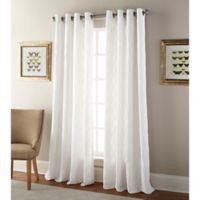Kings Gate 95-Inch Grommet Window Curtain Panel in White