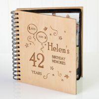 Birthday Memories Wood Photo Album