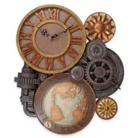 design TOSCANO® Gears of Time Sculptural Wall Clock