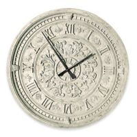 design TOSCANO® Milano Centrale Grande Train Station Wall Clock in Ivory