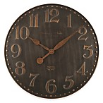 Sterling & Noble Copper Farmhouse Wall Clock in Grey