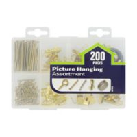 Hillmans's™ Picture Hanger Assortment Kit in Plated Brass