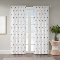 St. Martin 84-Inch Rod Pocket Room Darkening Window Curtain Panel in White