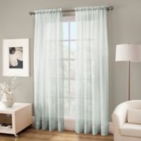 Crushed Voile Platinum 84-Inch Rod Pocket Sheer Window Curtain Panel in Seagrass