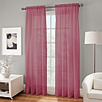 Crushed Voile Platinum 84-Inch Rod Pocket Sheer Window Curtain Panel in Amethyst