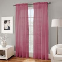 Crushed Voile Platinum 108-Inch Rod Pocket Sheer Window Curtain Panel in Amethyst