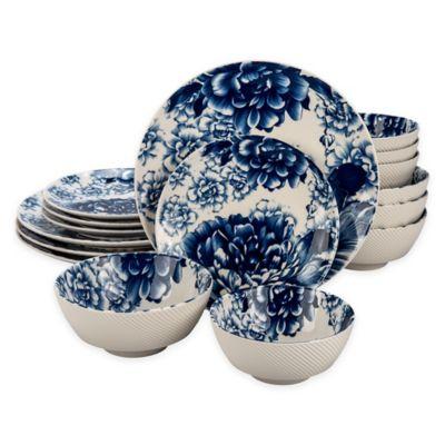Bia Cordon Bleu Peony 16-Piece Dinnerware Set in Blue  sc 1 st  Bed Bath \u0026 Beyond & Buy Cordon Bleu Dinnerware from Bed Bath \u0026 Beyond