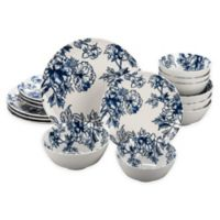 Bia Cordon Bleu Floral 16-Piece Dinnerware Set in Blue