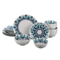 Bia Cordon Bleu Kashgar 16-Piece Dinnerware Set in Blue