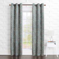 Sun Zero Rheanne 84-inch Grommet Room Darkening Window Curtain Panel in Grey