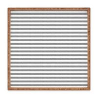 Deny Designs by Little Arrow Design Co. Small Square Serving Tray in Grey Stripes