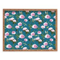 Deny Designs Peonies In Dreams by Lisa Argyropoulos Small Rectangular Serving Tray