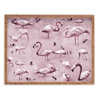 Deny Designs Vintage by Lisa Argyropoulos Small Rectangular Serving Tray with Flamingos