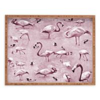 Deny Designs Vintage by Lisa Argyropoulos Large Rectangular Serving Tray with Flamingos
