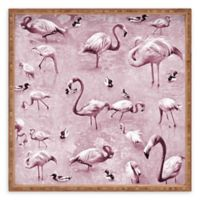 Deny Designs Vintage by Lisa Argyropoulos Small Square Serving Tray with Flamingos