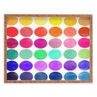 Deny Designs Colorplay 6 by Garima Dhawan Small Rectangular Serving Tray