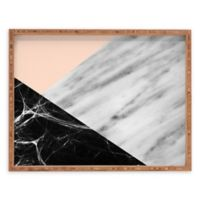 Deny Designs Marble Collage by Emanuela Carratoni Small Rectangular Serving Tray