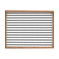 Deny Designs by Little Arrow Design Co. Large Rectangular Serving Tray in Grey Stripes